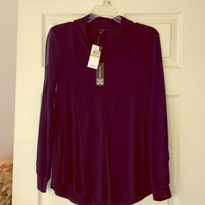 NWT midnight blue blouse sz S